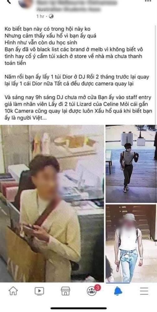 """Vụ du học sinh người Việt trộm túi hiệu tại Úc: mắc chứng nghiện sống ảo"""", bị cấm đến các siêu thị lớn, phải xóa các tài khoản mạng xã hội-3"""