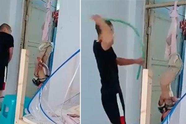 Phẫn nộ người đàn ông tàn độc đánh bé trai bị treo ngược trên cửa đến ngất xỉu - xs thứ hai