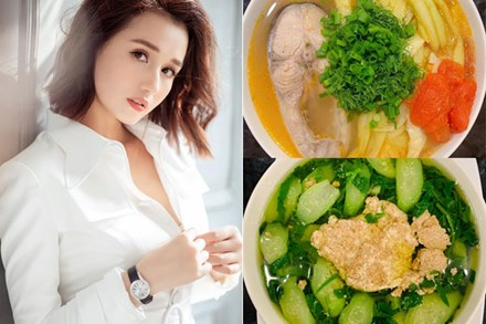 Là mẫu phụ nữ hiện đại nhưng Lã Thanh Huyền đã vào bếp là nấu toàn món ngon