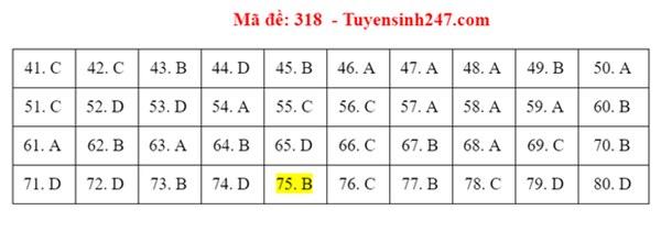Đáp án đề thi tốt nghiệp THPT 2020 môn Địa lý (24 mã đề)-1