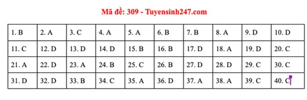 Đáp án đề thi môn Lịch sử tốt nghiệp THPT Quốc gia 2020 (24 mã đề)-3