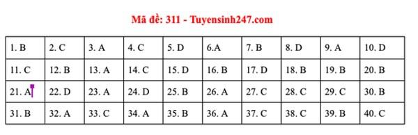 Đáp án đề thi môn Lịch sử tốt nghiệp THPT Quốc gia 2020 (24 mã đề)-4
