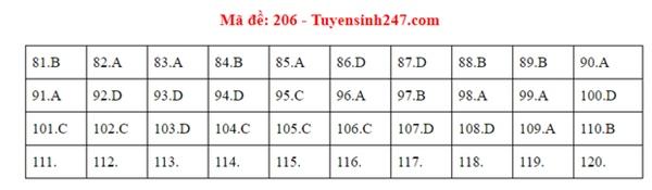 Đáp án đề thi tốt nghiệp THPT Quốc gia 2020 môn Sinh (24 mã đề)-3