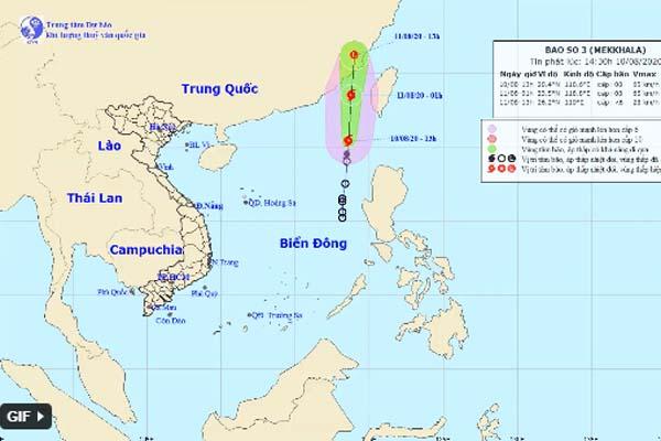 Áp thấp nhiệt đới trên Biển Đông đã mạnh lên thành cơn bão số 3-1