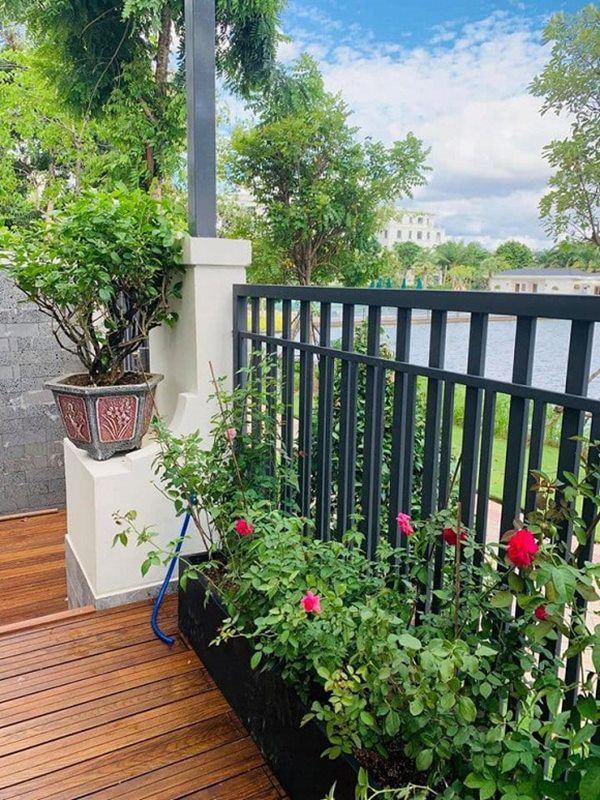 Vân Hugo đón con trai vào Sài Gòn ở biệt thự, trồng nhiều loại hoa quanh nhà vì hôn phu-9