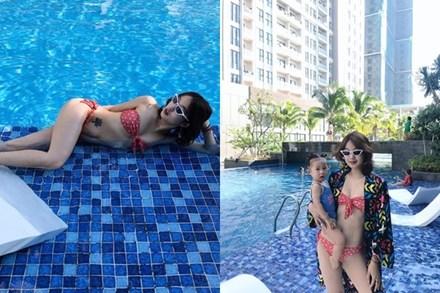 Hot mom Mi Vân đẻ xong 1 năm vẫn
