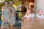 Cặp song sinh nhà MC Thành Trung 8 tháng bụ bẫm như 2 tuổi, mẹ bỉm sữa thi nhau vào xin bí quyết nuôi dưỡng