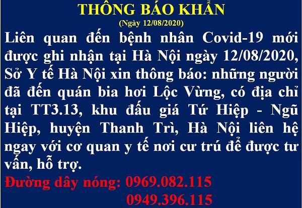 Xuất hiện ca nghi nhiễm COVID-19 đi lại nhiều nơi, Hà Nội ra thông báo khẩn trong đêm-1