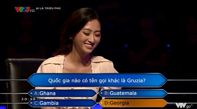Hoa hậu Lương Thùy Linh chạm tới câu hỏi 40 triệu của Ai là triệu phú nhưng lại mất trắng 8 triệu vì tin lời bạn-4