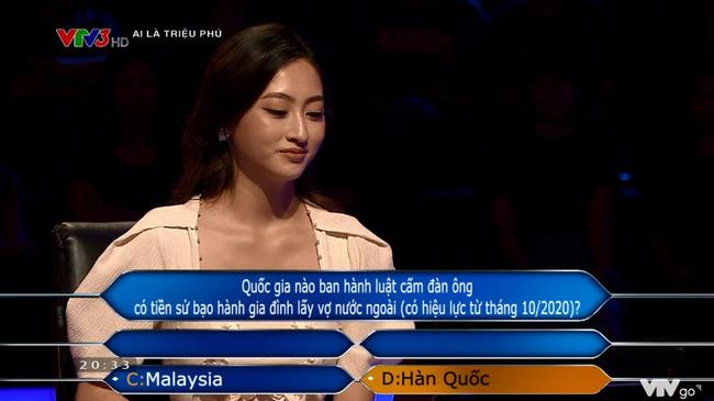 Hoa hậu Lương Thùy Linh chạm tới câu hỏi 40 triệu của Ai là triệu phú nhưng lại mất trắng 8 triệu vì tin lời bạn-2