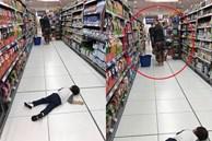 Con trai Thu Minh nằm ăn vạ giữa siêu thị, người nước ngoài cũng phải có thái độ
