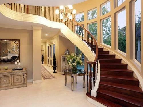 Các kiểu cầu thang gỗ đẹp và hiện đại, nhà có tiền phải làm ngay-5