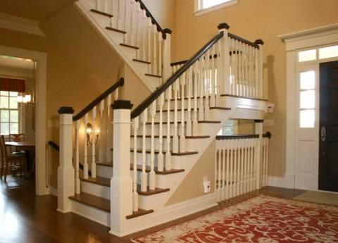 Các kiểu cầu thang gỗ đẹp và hiện đại, nhà có tiền phải làm ngay-6