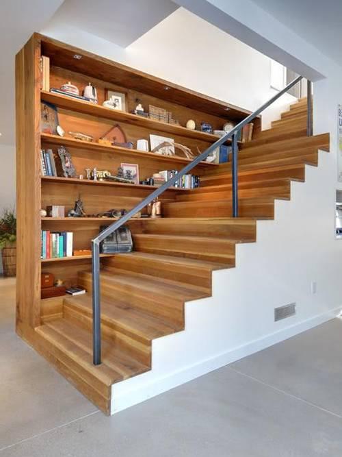 Các kiểu cầu thang gỗ đẹp và hiện đại, nhà có tiền phải làm ngay-7