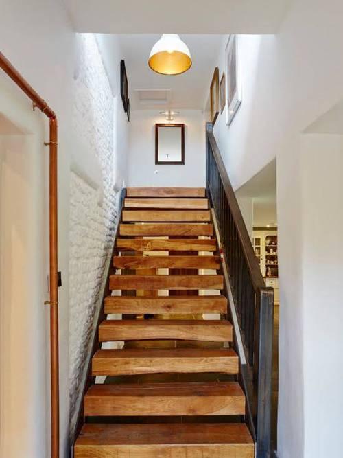 Các kiểu cầu thang gỗ đẹp và hiện đại, nhà có tiền phải làm ngay-8