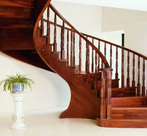 Các kiểu cầu thang gỗ đẹp và hiện đại, nhà có tiền phải làm ngay-10