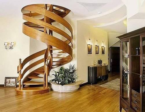 Các kiểu cầu thang gỗ đẹp và hiện đại, nhà có tiền phải làm ngay-11