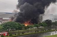 Đang cháy lớn tại khu Công nghiệp Yên Phong, Bắc Ninh