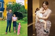 Chiều cao thật của con gái Lan Phương lộ rõ khi đứng cạnh mẹ nấm lùn và bố Tây 2m