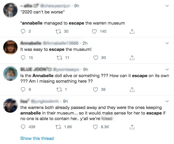 Thực hư thông tin búp bê Annabelle đột ngột biến mất khỏi bảo tàng khiến dân mạng lo sốt vó, sợ bị tìm đến gây xôn xao MXH vài giờ qua-2