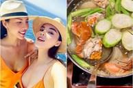 Được 'người tình' chân dài làm món tủ, Kỳ Duyên nức nở khen ngon nhất Sài Gòn