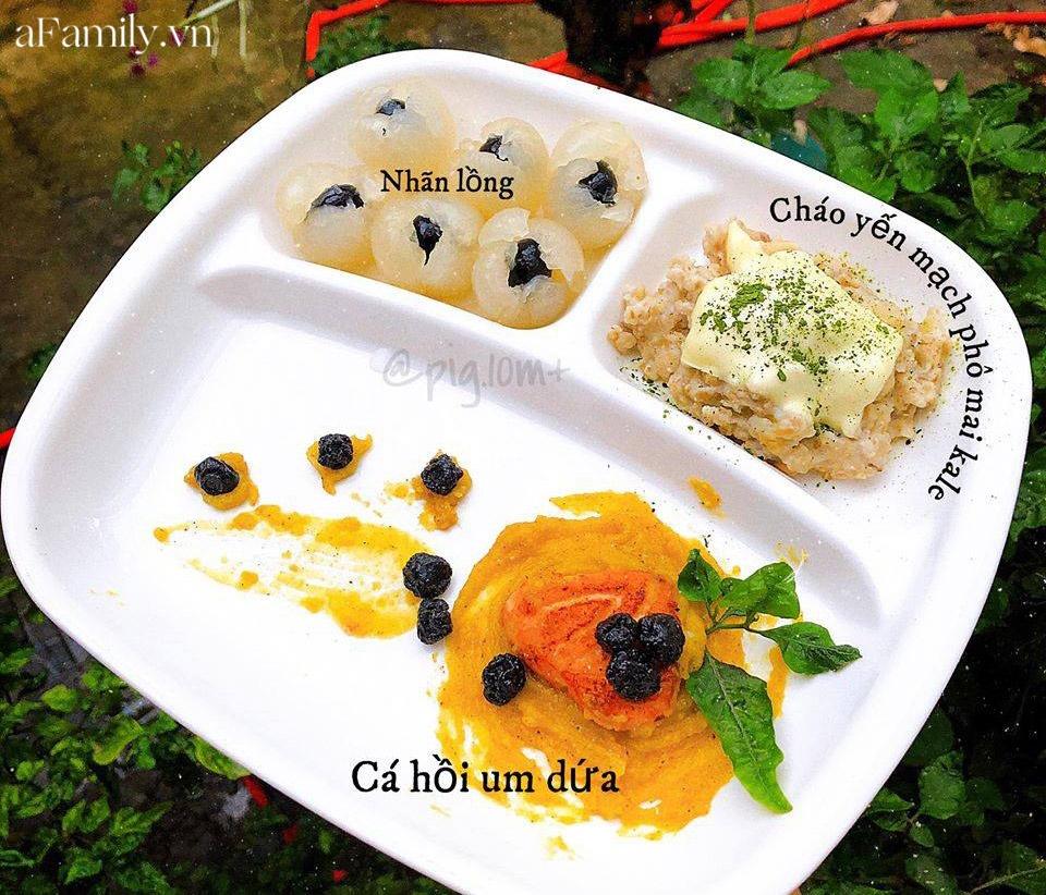 """Mẹ Quảng Nam khoe thực đơn ăn dặm cho con nhìn như nhà hàng 5 sao, bé 11 tháng đã ăn cả thế giới"""" nhờ bí quyết đặc biệt-17"""