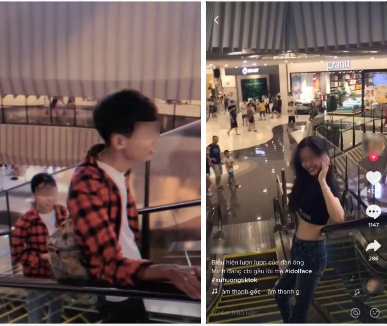 Quay clip hở rốn ưỡn ẹo ở Trung tâm thương mại, cô gái tố chàng trai đối diện nhìn mình chằm chằm, ai ngờ bị dân mạng mắng xối xả là ảo tưởng sức mạnh-2