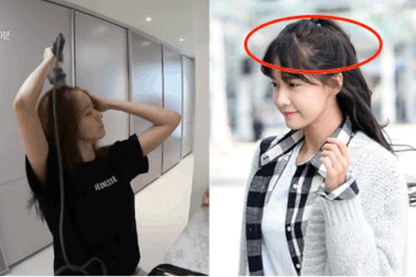 Sấy tóc như Yoona bảo sao tóc cô cứ rụng, mỏng dính lộ cả mảng da đầu