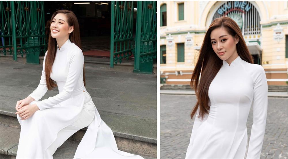 HH Khánh Vân xinh đẹp duyên dáng là thế, mà chỉ vì hàng lông mày ngang phè khiến gương mặt nhìn cứng đơ-5