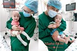 Khoảnh khắc siêu âm hiếm hoi ghi lại cú chạm nhau của 2 thai nhi song sinh trong bụng mẹ-3