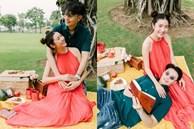 Thúy Vân lần đầu khoe ảnh mang bầu 6 tháng, hạnh phúc bên chồng đại gia