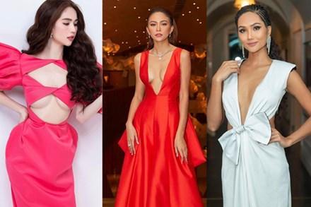 3 kiểu váy khoe ngực táo bạo nhất của mỹ nhân Việt