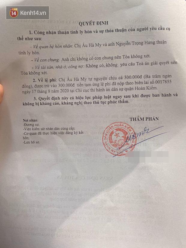 Vợ chồng giảng viên Âu Hà My chính thức ly hôn sau 2 tuần ồn ào-2