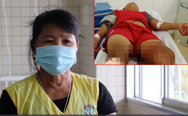 Mẹ thiếu niên bị chém ở Tây Ninh: Thấy bị chặn đường, Đ. quay đầu chạy thì bị đuổi theo chém rơi chân xuống-1