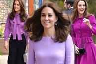 Mặc trang phục màu tím dễ quê và sến: Công nương Kate đã chứng minh điều ngược lại