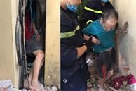 Phá tường, giải cứu người đàn ông bị kẹt giữa 2 bức tường hẹp