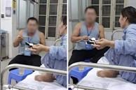 Đang chăm vợ ở bệnh viện, biết có người cần máu anh chồng vội để vợ một mình để làm điều này khiến nhiều người bất ngờ