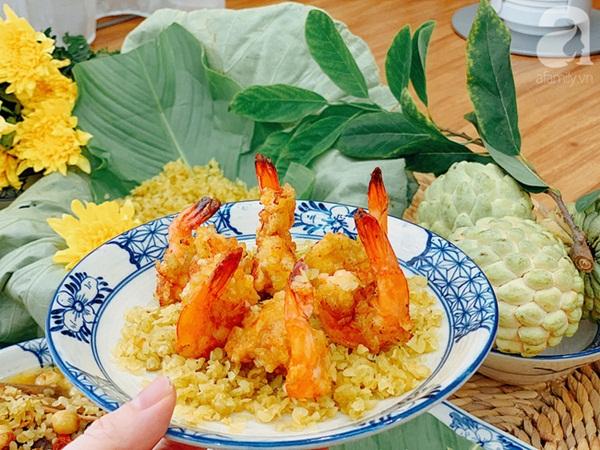 9x Hà Nội chia sẻ mâm cơm cuối tuần ngon đẹp đến ngỡ ngàng, tất cả các món đều được làm từ cốm!-5
