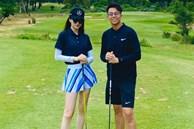 Tình tứ đi đánh golf, cuối cùng Matt Liu cũng chịu cho Hương Giang ra mắt mấy ông bạn rồi đây