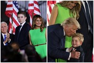 'Hoàng tử Nhà Trắng' xuất hiện nổi bật, điển trai nhưng lần này bị cháu trai 4 tuổi tranh giành spotlight