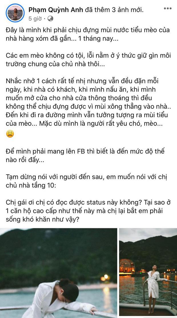 Phạm Quỳnh Anh ám ảnh 1 tháng nay vì hàng xóm có hành động mất vệ sinh, giờ phải đăng đàn dằn mặt vì không chịu nổi-1