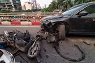 Hà Nội: Tai nạn liên hoàn giữa xe máy SH và 2 ô tô, một người nhập viện cấp cứu