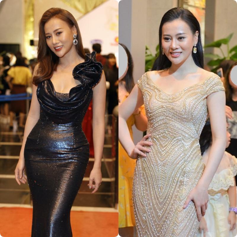 Phục thù lại mùa VTV Awards năm ngoái, năm nay Phương Oanh gây sốt với vòng eo siêu nhỏ, nhưng bộ đầm đen lại có phần hơi già-3