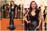 'Phục thù' lại mùa VTV Awards năm ngoái, năm nay Phương Oanh gây sốt với vòng eo siêu nhỏ, nhưng bộ đầm đen lại có phần hơi già