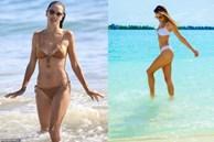 Alessandra Ambrosio nóng bỏng 'gây mê' với bikini màu nude