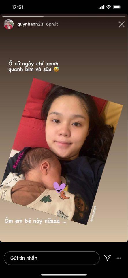 """Quỳnh Anh lần đầu tự chia sẻ hình ảnh bản thân sau khi sinh quý tử cho cầu thủ Duy Mạnh, công chúa béo"""" giờ đã là mẹ bỉm sữa thật rồi-3"""