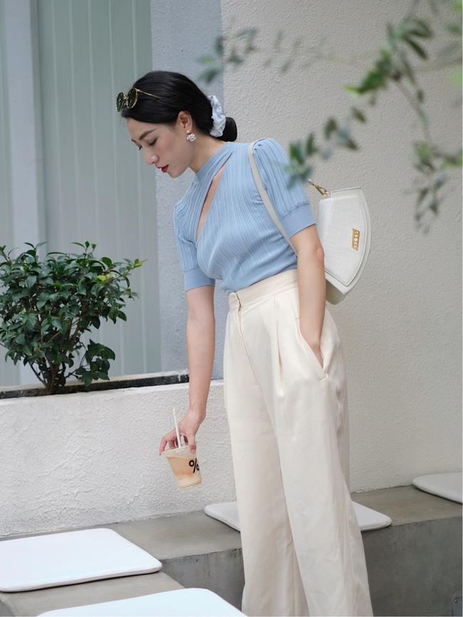 Street style Châu Á đồng loạt tẩy chay quần ôm, chỉ diện thiết kế ống rộng nhưng tạo được cả chục bộ đồ mặc đi làm đẹp hết nấc-2