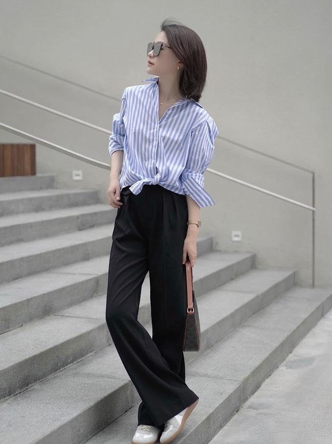 Street style Châu Á đồng loạt tẩy chay quần ôm, chỉ diện thiết kế ống rộng nhưng tạo được cả chục bộ đồ mặc đi làm đẹp hết nấc-4