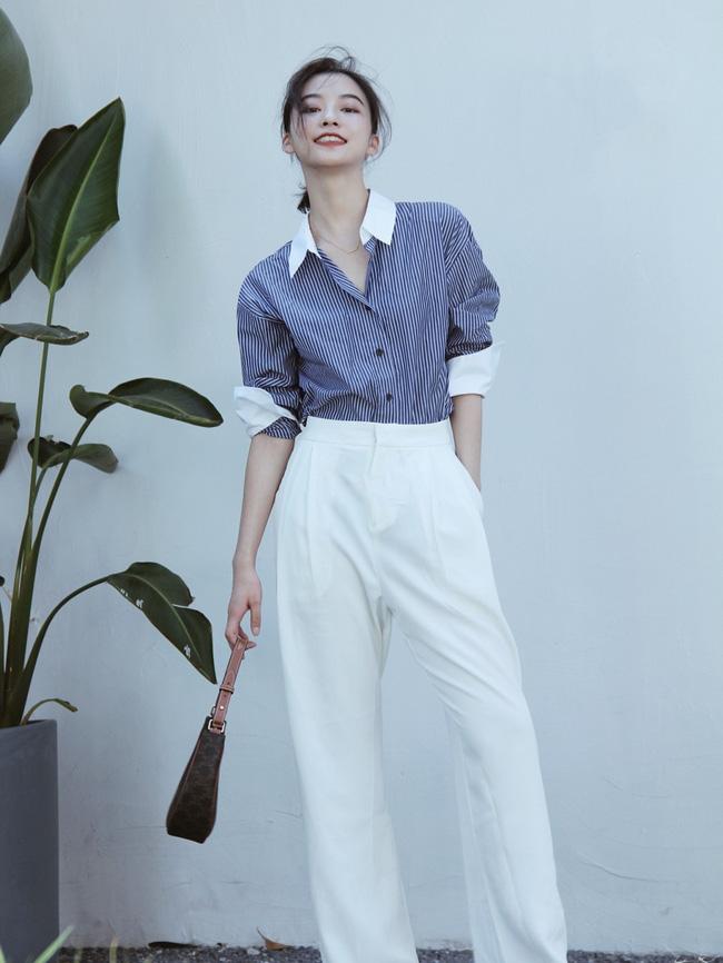 Street style Châu Á đồng loạt tẩy chay quần ôm, chỉ diện thiết kế ống rộng nhưng tạo được cả chục bộ đồ mặc đi làm đẹp hết nấc-5