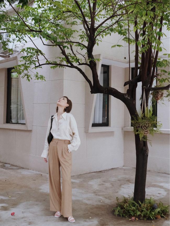 Street style Châu Á đồng loạt tẩy chay quần ôm, chỉ diện thiết kế ống rộng nhưng tạo được cả chục bộ đồ mặc đi làm đẹp hết nấc-6